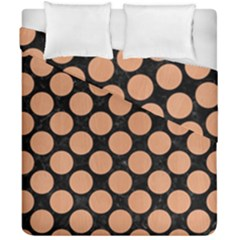 Circles2 Black Marble & Natural Red Birch Wood Duvet Cover Double Side (california King Size) by trendistuff