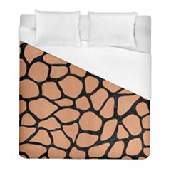 Skin1 Black Marble & Natural Red Birch Wood Duvet Cover (full/ Double Size) by trendistuff
