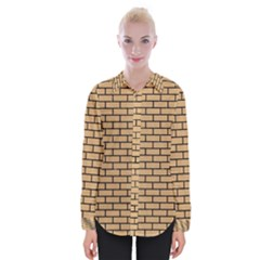 Brick1 Black Marble & Natural White Birch Wood (r) Womens Long Sleeve Shirt by trendistuff