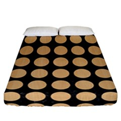 Circles1 Black Marble & Natural White Birch Wood Fitted Sheet (california King Size) by trendistuff