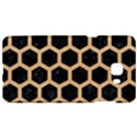 HEXAGON2 BLACK MARBLE & NATURAL WHITE BIRCH WOOD Samsung C9 Pro Hardshell Case  View1