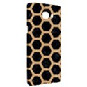 HEXAGON2 BLACK MARBLE & NATURAL WHITE BIRCH WOOD Samsung C9 Pro Hardshell Case  View3