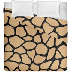Skin1 Black Marble & Natural White Birch Wood Duvet Cover Double Side (king Size) by trendistuff