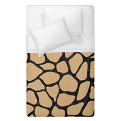 Skin1 Black Marble & Natural White Birch Wood Duvet Cover (single Size) by trendistuff