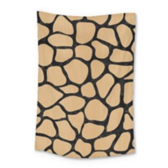 Skin1 Black Marble & Natural White Birch Wood Small Tapestry by trendistuff