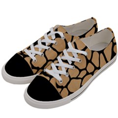 Skin1 Black Marble & Natural White Birch Wood Women s Low Top Canvas Sneakers by trendistuff