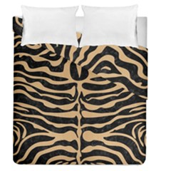 Skin2 Black Marble & Natural White Birch Wood Duvet Cover Double Side (queen Size) by trendistuff