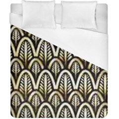 Art Deco Gold Black Shell Pattern Duvet Cover (california King Size) by 8fugoso