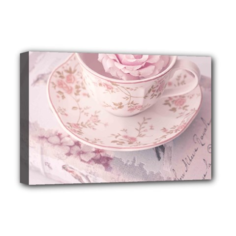 Shabby Chic High Tea Deluxe Canvas 18  X 12   by 8fugoso