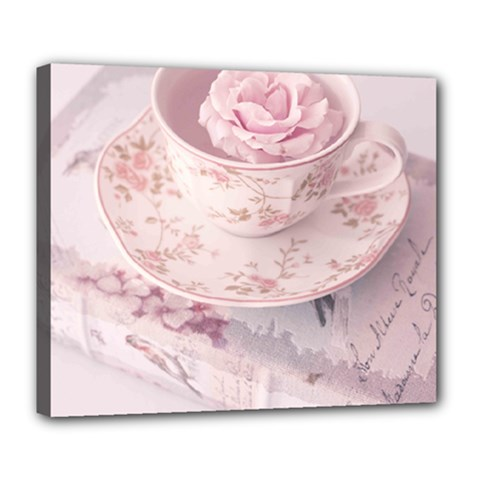 Shabby Chic High Tea Deluxe Canvas 24  X 20   by 8fugoso