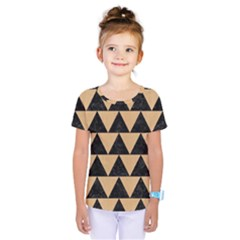 Triangle2 Black Marble & Natural White Birch Wood Kids  One Piece Tee