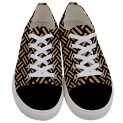 Woven2 Black Marble & Natural White Birch Wood Women s Low Top Canvas Sneakers