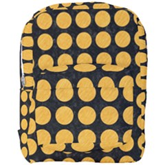 Circles1 Black Marble & Orange Colored Pencil Full Print Backpack
