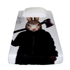 Evil Rabbit Fitted Sheet (single Size)