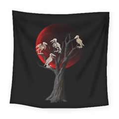 Dead Tree  Square Tapestry (large) by Valentinaart