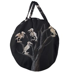 Dead Tree  Giant Round Zipper Tote