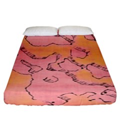 Fantasy Dungeon Maps 6 Fitted Sheet (king Size) by MoreColorsinLife