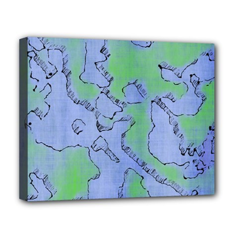 Fantasy Dungeon Maps 5 Deluxe Canvas 20  X 16   by MoreColorsinLife