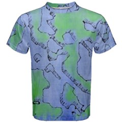 Fantasy Dungeon Maps 5 Men s Cotton Tee by MoreColorsinLife