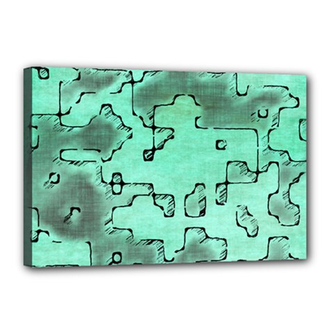 Fantasy Dungeon Maps 7 Canvas 18  X 12  by MoreColorsinLife
