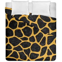 Skin1 Black Marble & Orange Colored Pencil (r) Duvet Cover Double Side (california King Size) by trendistuff