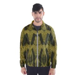 Green Floral Art Nouveau Wind Breaker (men) by 8fugoso