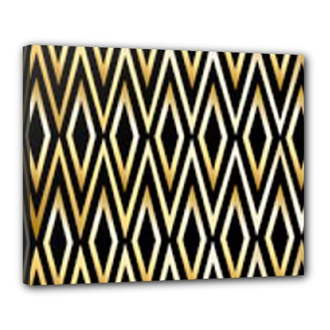 Gold,black,art Deco Pattern Canvas 20  X 16  by 8fugoso