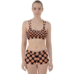 Circles2 Black Marble & Orange Watercolor (r) Women s Sports Set by trendistuff