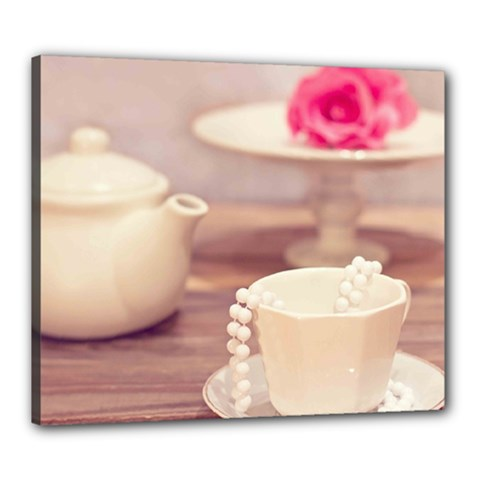 High Tea, Shabby Chic Canvas 24  X 20  by 8fugoso