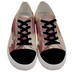 High Tea, Shabby Chic Men s Low Top Canvas Sneakers