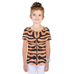 Skin2 Black Marble & Orange Watercolor Kids  One Piece Tee