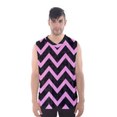 Chevron9 Black Marble & Pink Colored Pencil (r) Men s Basketball Tank Top by trendistuff