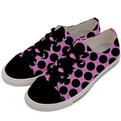 Circles2 Black Marble & Pink Colored Pencil Men s Low Top Canvas Sneakers by trendistuff