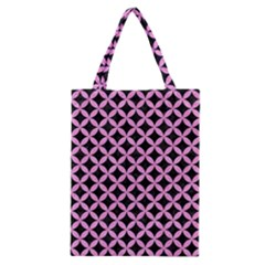 Circles3 Black Marble & Pink Colored Pencil (r) Classic Tote Bag by trendistuff