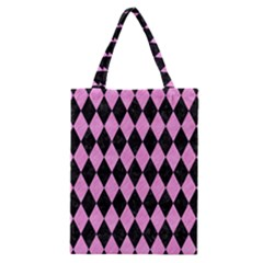 Diamond1 Black Marble & Pink Colored Pencil Classic Tote Bag by trendistuff