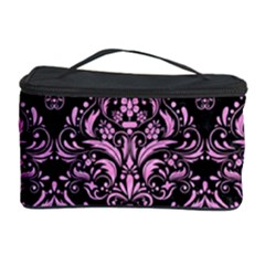 Damask1 Black Marble & Pink Colored Pencil (r) Cosmetic Storage Case by trendistuff
