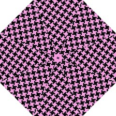 Houndstooth2 Black Marble & Pink Colored Pencil Straight Umbrellas by trendistuff