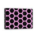 HEXAGON2 BLACK MARBLE & PINK COLORED PENCIL (R) Mini Canvas 7  x 5  View1