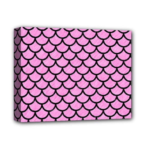 Scales1 Black Marble & Pink Colored Pencil Deluxe Canvas 14  X 11  by trendistuff