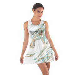 Abstract Marble 1 Cotton Racerback Dress