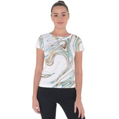Abstract Marble 1 Short Sleeve Sports Top  by tarastyle