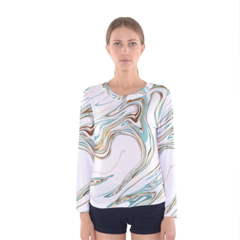 Abstract Marble 1 Women s Long Sleeve Tee by tarastyle