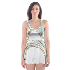 Abstract Marble 1 Skater Dress Swimsuit by tarastyle