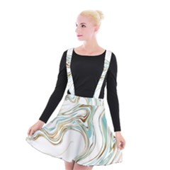 Abstract Marble 1 Suspender Skater Skirt by tarastyle