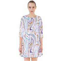 Abstract Marble 3 Smock Dress by tarastyle