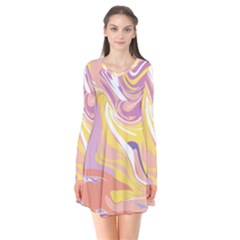 Abstract Marble 5 Flare Dress by tarastyle