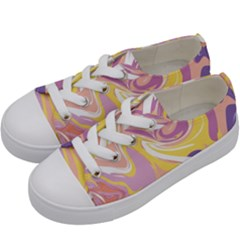 Abstract Marble 5 Kids  Low Top Canvas Sneakers by tarastyle
