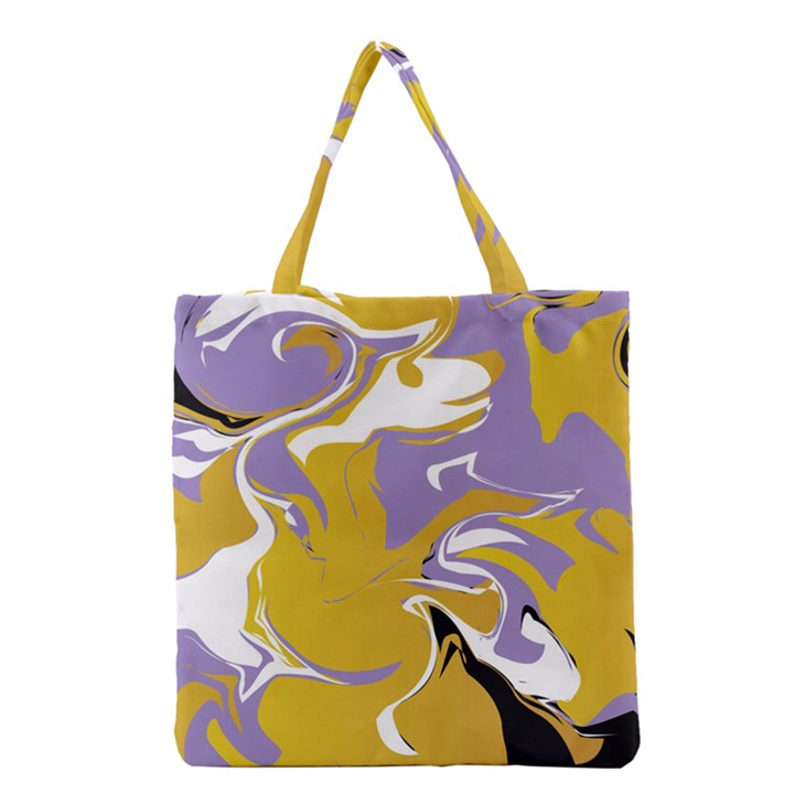 Abstract Marble 7 Grocery Tote Bag