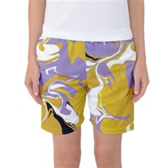 Abstract Marble 7 Women s Basketball Shorts by tarastyle