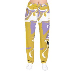 Abstract Marble 7 Drawstring Pants by tarastyle